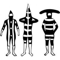 Resultado de imagen para onas en acuarela Arte Tribal, Tribal Art, Paperclay, Tribal Patterns, Prehistory, Native Art, Land Art, Stone Painting, Pattern Art