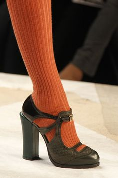 Fendi Fall 2011. Baby orange socks. Love the shoes