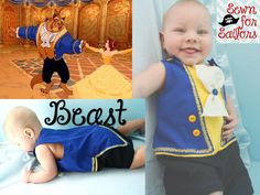 Disney Beauty and the Beast, Beast inspired jonjon/ outfit/ clothes/ romper/ costume/ clothes for baby boys sizes newborn, 3, 6 months. $48.00, via Etsy.