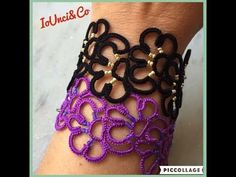 32' TUTORIAL FACILE BRACCIALE CHIACCHIERINO AD AGO EASY BRACELET NEEDLE TATTING - YouTube