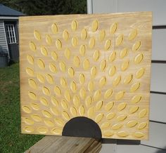 Wedding guest book SUNFLOWER guest book, wood guest book, rustic guest book, wedding sign, free shipping by ThePaintedBeach on Etsy https://www.etsy.com/listing/239330584/wedding-guest-book-sunflower-guest-book