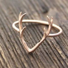 •NEW• rose gold antler ring New never worn midi or small size alloy metal (third picture for size reference) Jewelry Rings