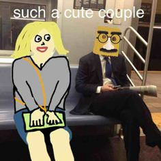 One of our users decided to match up this guy on the subway!