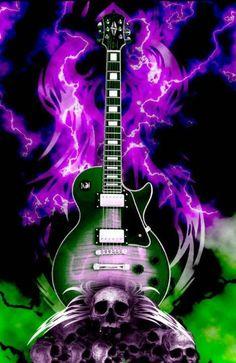 Rock n Roll - Too cool! Guitar Art, Music Guitar, Cool Guitar, Guitar Pics, Smile Wallpaper, Music Wallpaper, Music Pictures, Cool Pictures, Musik Illustration