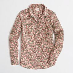 J.Crew Factory - Factory classic button-down shirt in printed cotton