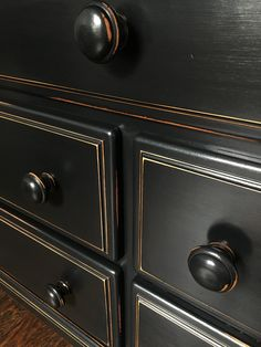 General Finishes Milk Paint in Lamp Black and Semi Gloss
