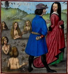 «Deucalion and Pyrrah repopulating the world after the Flood (humans spring forth from the stones that they cast behind them). » Roman de la Rose, c. 1490 -1500, Harley 4425 , f. 153, The British Library. http://www.bl.uk/catalogues/illuminatedmanuscripts/ILLUMIN.ASP?Size=mid&IllID=28564