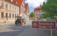 Overzicht Romantische Straße Deutschland, kamperen