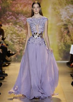 2014 Chiffon Prom Dresses Lace Appliques Short Sleeve Long Formal Evening Gowns