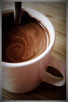 Hot tabliya (chocolate) drink. Batangas (Philippines) is famous for this. It's a round, about the size of big marble. Put it into a pot of water and let it boil. Made from pure cacao. Try it when you visit restaurants in Tagaytay or Batangas. It can also be used for other recipes. :)