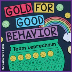 This packet is perfect for managing your classroom during the month of March. Your students can earn gold coins for good behavior! March Month, School Holidays, Gold Coins, Teacher Newsletter, Classroom Management, Behavior, Students, Behance, Month Of March