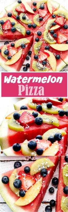 This Watermelon Pizza is ripe and ready to go for any occasion this Summer.