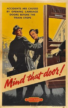 Mind that door ! - British Railways -
