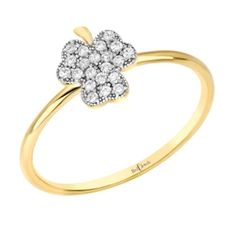 Lucky Cloverleaf   Red C Jewels #jewelry #ring #diamond #cloverleaf #luckyring #lucky #gold #rosegold #silver