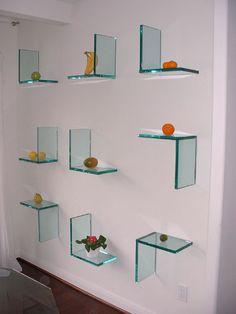 glass shelving for fruit