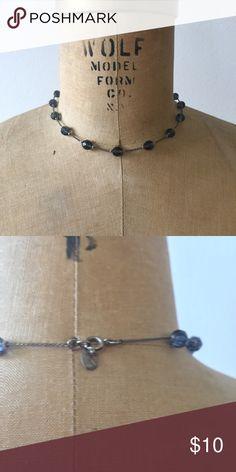 Choker necklace Dark blue/black beaded choker necklace Jewelry Necklaces