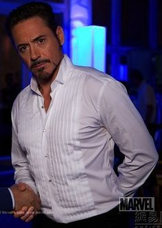 """RDJ - new image of Tony Stark from """"Iron Man 3"""" -- Personally, I love it when his hair is long. He's still makes me sing OOH BAYBEH BAY-BEH, BA-BAYBEH BAY-BEH but you know.... ;D"""