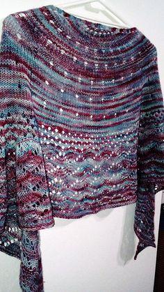 Kindness KAL Shawl by Jaala Spiro, knitted by Gurisa | malabrigo Sock in Lotus