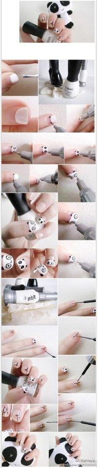 #panda #nailart