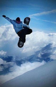 Snowboarding is like being a superhero