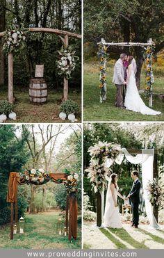 2021 Decor Trends: DIY Ideas for Rustic Wedding Arch Wedding Arch Rustic, Outdoor Wedding Decorations, Wedding Themes, Wedding Arches, Craft Wedding, Wedding Ideas, Wedding Stuff, Dream Wedding, Bohemian Wedding Invitations