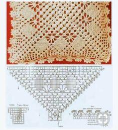 Crochet Pillow Patterns Part 3 - Beautiful Crochet Patterns and Knitting Patterns Crochet Cushion Pattern, Crochet Pillow Cases, Crochet Pillow Patterns Free, Crochet Cushions, Crochet Tablecloth, Doily Patterns, Crochet Doilies, Knitting Patterns, Crochet 101