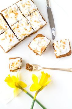 AIP Carrot Cake with Whipped Coconut Frosting ~ made with Tigernut flour & vegan too! It's perfectly moist & filled with flavor, a delicious paleo dessert.