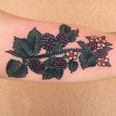 Berries by Gina Medlock at Star Tattoo in ABQ NM