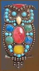mosaic owl pendant