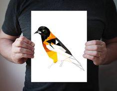 Bird Print Bird Art Animal Print Art Geometric Art by villavera