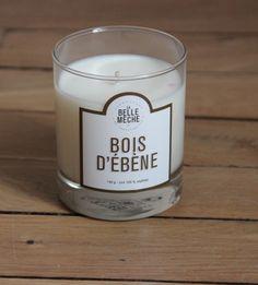 http://www.labellemeche.com/bougies-parfumees/35-bougie-parfumee-bois-d-ebene.html  Ma senteur préférée dans cette belle collection de bougie contemporaine !