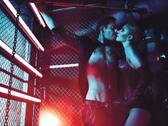 Charlize Theron & Michael Fassbender by Mario Sorrenti for W