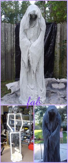 DIY PVC Monster Mud Reaper Ghost Halloween Dekor Tutorial - Beton - - You are in the right place about diy halloween witch Here we offer you the most beautiful pictur Diy Halloween Ghosts, Halloween Ghost Decorations, Outdoor Halloween, Halloween Tutorial, Halloween Clothes, Trendy Halloween, Dollar Store Halloween, Halloween Painting, Halloween Parties
