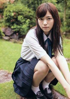 the girl not naked Japanese School Uniform, School Uniform Girls, Girls Uniforms, School Girl Japan, Japan Girl, Cute Asian Girls, Cute Girls, Cute Swimsuits, Japanese Models
