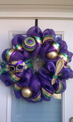 Wreath inspiration...make something similar but with crown in the middle