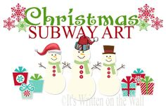 {23 Freebies} Christmas Subway Art For You Home