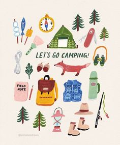Because I miss all day hiking in the Scottish Highlands . Illustration Inspiration, Doodle Inspiration, Cute Illustration, Camping Drawing, Guache, Grafik Design, Illustrations And Posters, Doodle Art, Cute Drawings