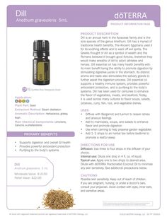 DOTERRA DILL PRODUCT INFO