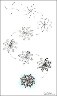 Best Drawing Easy Step By Step Doodles Zentangle Patterns 36 Ideas Step By Step Sketches, Step By Step Drawing, Zentangle Drawings, Doodles Zentangles, Doodle Drawings, Tangle Art, Tangle Doodle, Tattoo Painting, Easy Doodle Art