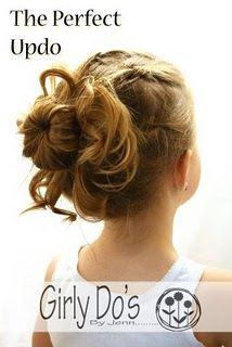 short hair updo - the instructions are for a child's hair, but it could work for anyone.