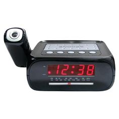 Supersonic SC-371 Digital Projection Alarm Clock with AM-FM Radio