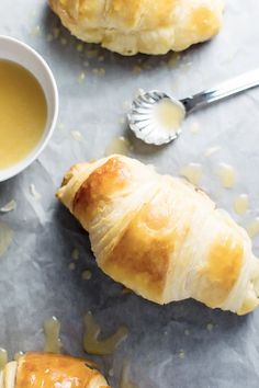 Homemade Croissants with Honey Butter Drizzle  Full recipe
