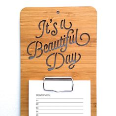 It's A Beautiful Day Calendar. Wall Calendar. Wood Calendar. Perpetual Calendar…