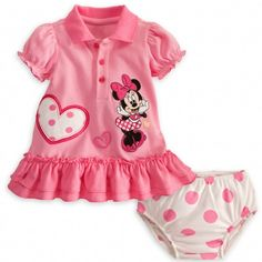 Your little lady will show plenty of heart in this pretty pink dress! #DisneyBaby