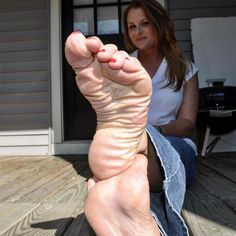 Sexy soft feet footjob