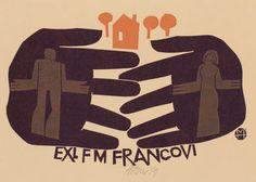 Art-exlibris.net - exlibris by Miroslav Houra for Marta Frantisek Francovi