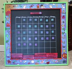 Perpetual calendar for school auction...pictures were from the 4th grade class