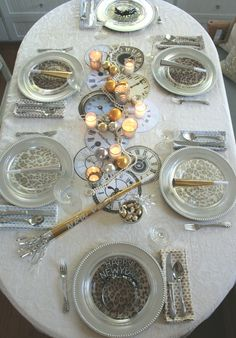 my new year's eve table