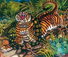 Antonio Ligabue, Tigre con serpente