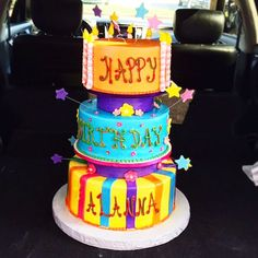 Awesome And Fun Birthday Cake With Fondant Accents Visit Us At Rustikacafe